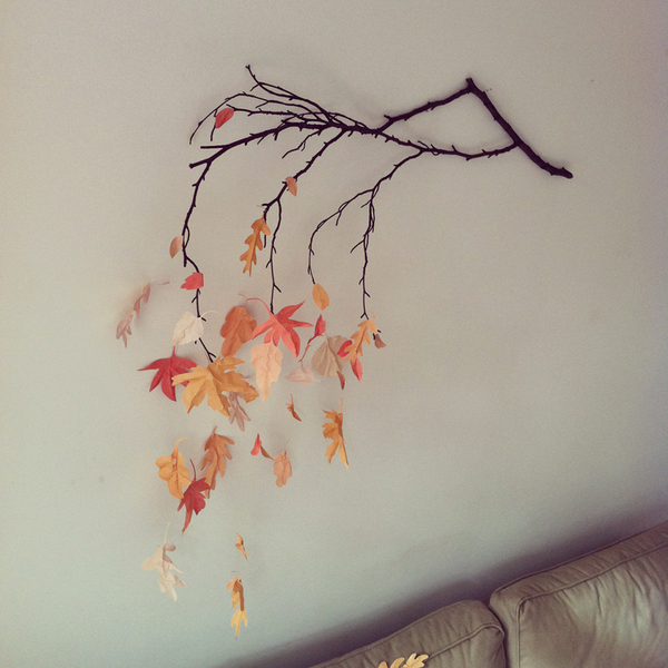 Autumnal wall decoration craft finds cut out keep for Autumn leaf decoration