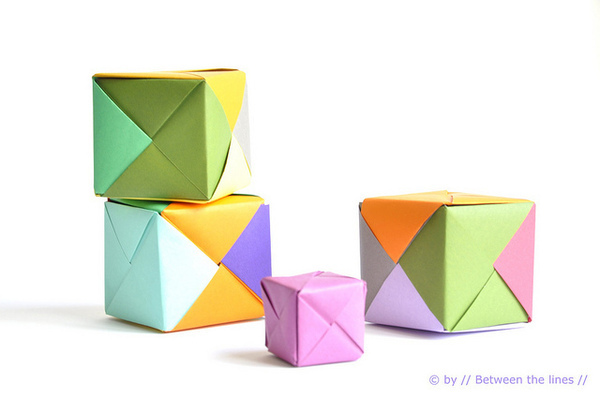 Origami Paper Cube Craft Finds Cut Out Keep Blog